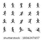 vector set of movement woman... | Shutterstock .eps vector #1836247657