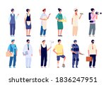 different professionals. group... | Shutterstock .eps vector #1836247951