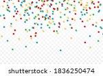 colorful round confetti....   Shutterstock .eps vector #1836250474