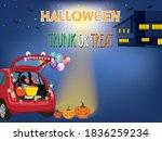 halloween trunk or treat on... | Shutterstock .eps vector #1836259234