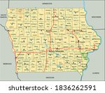 high detailed iowa physical map ... | Shutterstock .eps vector #1836262591