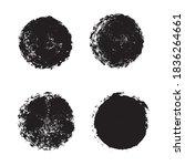 vector round brush frame grunge ... | Shutterstock .eps vector #1836264661