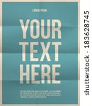 poster template on colorful... | Shutterstock .eps vector #183628745