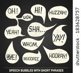 hand drawn speech bubble set... | Shutterstock .eps vector #183628757