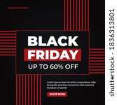 modern black friday sale banner ... | Shutterstock .eps vector #1836313801