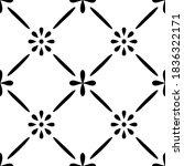 tile seamless pattern. black...   Shutterstock .eps vector #1836322171