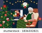 family holiday online.... | Shutterstock .eps vector #1836332821