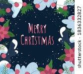 design greeting card. merry... | Shutterstock .eps vector #1836332827