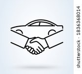 car deal with hand shake sign... | Shutterstock .eps vector #1836368014