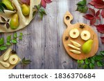 Ripe Pears And Pear Slices On A ...