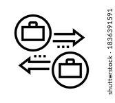 job change line icon vector.... | Shutterstock .eps vector #1836391591
