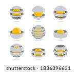 set of creative logos in space... | Shutterstock .eps vector #1836396631