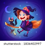 Cute Cartoon Witch Character....