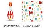 set of festive illustration.... | Shutterstock .eps vector #1836412684