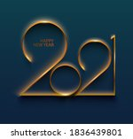 new year 2021. gold numbers on  ... | Shutterstock .eps vector #1836439801