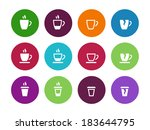 vector set of coffee cup circle ...