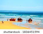 Fishermen At Costa Da Caparica...