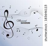 paper background with music... | Shutterstock .eps vector #183646115