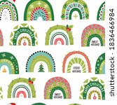 christmas seamless pattern with ... | Shutterstock .eps vector #1836466984