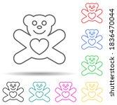 teddy bear with heart multi...