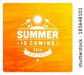 summer vector typography poster ... | Shutterstock .eps vector #183648101