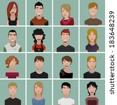 teenager avatars | Shutterstock .eps vector #183648239