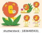 cute cartoon lions vector...   Shutterstock .eps vector #1836485431