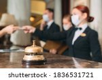 Check In Hotel. Receptionist At ...