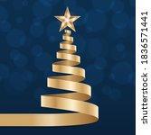 christmas shiny tree background ... | Shutterstock .eps vector #1836571441