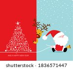 greeting card  christmas card... | Shutterstock .eps vector #1836571447
