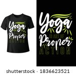yoga is art of proper action.... | Shutterstock .eps vector #1836623521