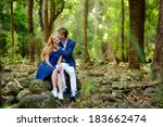 young beautiful couple having... | Shutterstock . vector #183662474