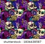 seamless wallpaper pattern.... | Shutterstock .eps vector #1836638587