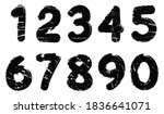 grunge numbers set.vector dirty ... | Shutterstock .eps vector #1836641071