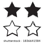 set of grunge stars.dirty star... | Shutterstock .eps vector #1836641584