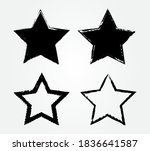 set of grunge stars.dirty star... | Shutterstock .eps vector #1836641587