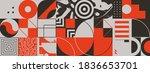geometric distress aesthetics... | Shutterstock .eps vector #1836653701