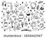 witchcraft  magic background... | Shutterstock .eps vector #1836662467