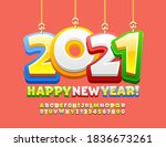 vector greeting card happy new... | Shutterstock .eps vector #1836673261