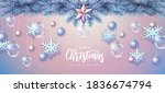 merry christmas and happy new... | Shutterstock .eps vector #1836674794