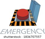 a big red emergency button   Shutterstock .eps vector #1836707557