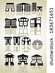 houses icons set. | Shutterstock . vector #183671651