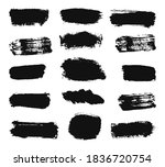 large collection of black paint ... | Shutterstock .eps vector #1836720754