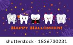 teeth in carnival costume on... | Shutterstock .eps vector #1836730231