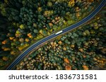 Arial View Of Heavy Truck On A...
