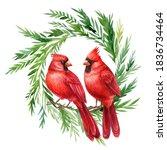 Red Cardinal  Christmas Wreath...