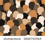 people profile heads. seamless... | Shutterstock .eps vector #1836742564