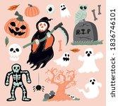 halloween character collection... | Shutterstock .eps vector #1836746101