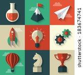 flat design modern vector... | Shutterstock .eps vector #183674741