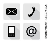 contact icons buttonsset  ... | Shutterstock .eps vector #183675365